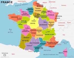 نقشه فرانسه