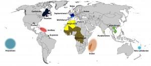 کشورهای فرانسوی زبان در نقشه جهان
